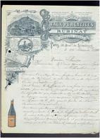 FACTURE 1899 SOCIETE DES EAUX PURGATIVES RUBINAT SOURCE SERRE 562 CALLE CORTES A BARCELONE ESPAGNE - 1800 – 1899