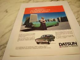 ANCIENNE   PUBLICITE COUP DE FOUDRE VOITURE DATSUN 1976 - Cars