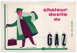 - BUVARD Chaleur Docile Du GAZ - Dessin FIX-MASSEAU - - Electricité & Gaz