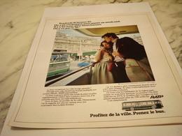 ANCIENNE PUBLICITE PRENEZ LE BUS RATP 1976 - Transportation