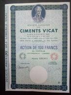 1 Sté Ciments VICAT Action (Annulé) - Aandelen