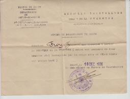 Certificat D'autorisation De Porter La Médaille INTERALLIEE Dite  De La Victoire à FROY Raymond  MELUN 1936 - Documenti Storici