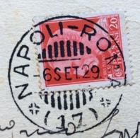 AMBULANTE NAPOLI - ROMA  * ( 17 ) 6 SET 29   SU CARTOLINA ROMA BASILICA DI S.PAOLO - 1900-44 Vittorio Emanuele III