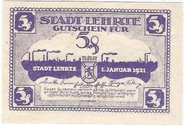 Alemania (NOTGELD) - Germany 5 Pfennig 1-1-1921 Lehrte DNB L30 1.b Serie Con Letra Curva UNC - [11] Emisiones Locales