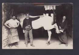 Carte Photo Atelier De Marechal Ferrant Au Travail Cheval à Situer ( Archives Guillaume Marcilly Sur Seine ) - Autres