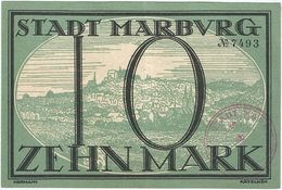 Alemania (NOTGELD) - Germany 10 Mark 11-10-1918 Marburg UNC Ref 3494-1 - [11] Emisiones Locales