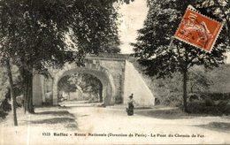 RUFFEC ROUTE NATIONALE DIRECTION DE PARIS LE PONT DU CHEMIN DE FER - Ruffec