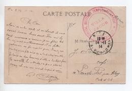 1914 - CP FM Avec CACHET HOPITAL MILITAIRE TEMPORAIRE ANNEXE / VILLA JACOB à CIMIEZ NICE (ALPES MARITIMES) - JUDAICA - Guerra De 1914-18
