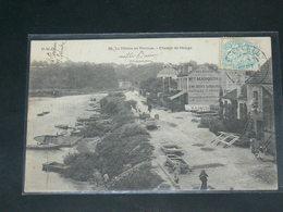 LE PERREUX  1910 /  VUE   PENICHE CHEMIN DE HALAGE     ....   / CIRC /  EDITION - Le Perreux Sur Marne