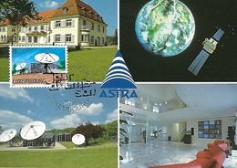 3.5.1991  -  Le Château De Betzdorf - Siège De La Société Européenne Des Satellites Et La Station De Contrôle De ASTRA - Cartes Maximum