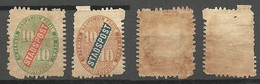 FINLAND HELSINKI 1866/68 Local City Post Stadtpost (*) NB! FAULTS! - Finland