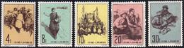 1961 - Tibetan People, Complete Set (M.616/620), O. G., MNH.... - Cina