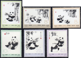 1973 - Panda, Complete Set (Yv.1869/1874,M.1126/1131), O. G., MNH.... - Cina