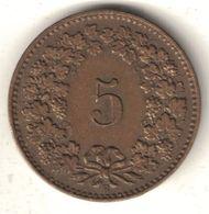 Swiss 5 Rappen – 1918 Brass - Suisse