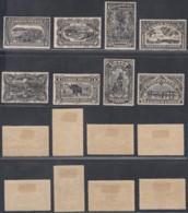 CONGO  BELGE 1915 COB 64/71 TIRAGE SPECIAL EN NOIR AVEC CHARNIERES (DD) DC-3598 - 1894-1923 Mols: Ungebraucht