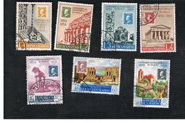 SAN MARINO - UNIF. 503.509  - 1959 CENTENARIO FRANCOBOLLI DI SICILIA (SERIE COMPLETA DI 7) -  USATI (USED°) - Saint-Marin