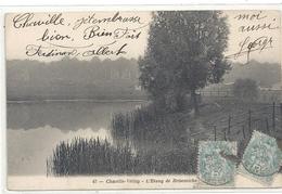 47. CHAVILLE-VELIZY . L'ETANG DE BRISEMICHE . AFFR SUR RECTO LE 4 JUIN 1905 - Velizy