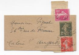 1937 - SEMEUSE - RARE AFFRANCHISSEMENT Sur BANDE JOURNAL ENTIER De 2c De TOURS (INDRE ET LOIRE) => ANGERS - Marcophilie (Lettres)