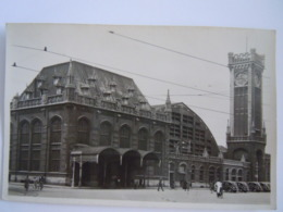 Ostende La Gare Oostende De Statie Cpa Oude Kaart Véritable Photo Echte Foto Rubens Anvers - Oostende