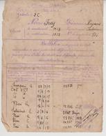 Bulletin Des évenements Donnant Droit Aux Primes De Démobilisation 178 Ième Régiment Artillerie  1918/19 - Documenti Storici