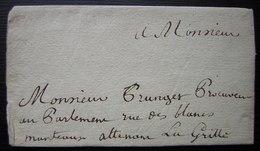 1734 Lettre De Sanson à Monsieur Crunget Procureur Au Parlement, Rue Des Blancs Manteaux - Manuscripts
