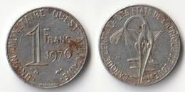 Piece 1 Franc 1976 Afrique De L'Ouest Origine Cote D'Ivoire - Elfenbeinküste