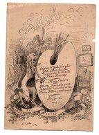 MENU DE 1886 - ILLUSTRATEUR A. BAC - HONOS ALIT ARTES - L'HONNEUR DONNE VIE AUX ARTS - MENU SUR PALETTE PEINTURE - Menu