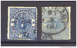 Allemagne  -  Wurtemberg  :  Mi  39 A+b   (o)   Bleu Clair - Wurttemberg