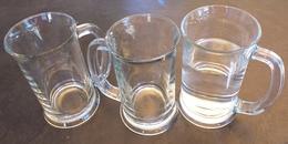 Lot De 3 Chopes En Verre épais, Contenance 39.5 Cl - Glasses