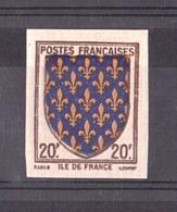 1943 - N° 575 - Non Dentelé - Neuf ** - Armoiries Ile De France - Frankreich
