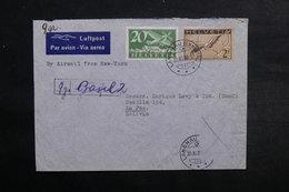 SUISSE - Enveloppe De Langnau Pour La Bolivie En 1939 , Affranchissement Plaisant Incomplet - L 33031 - Poststempel