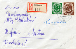 (k7051) Einschr.Brief Bund St. Tübingen N. Kufstein - BRD