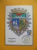 Carte Maximum   1964  N° 1354A   Armoiries Des Villes  Saint-Denis De La Réunion - Maximumkaarten