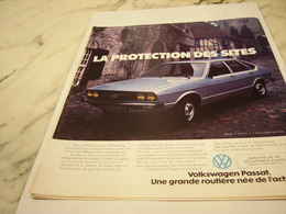 PUBLICITE  VOITURE VOLKSWAGEN PASSAT 1976 - Voitures
