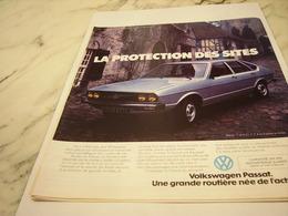 PUBLICITE  VOITURE VOLKSWAGEN PASSAT 1976 - Cars