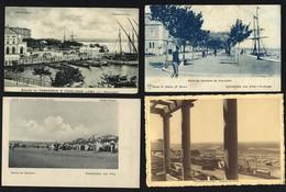 FIGUEIRA DA FOZ - Conjunto De 4 Postais Antigos PRAIA + CAIS... Set 4 Old Postcards (Coimbra) PORTUGAL - Coimbra