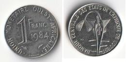Piece 1 Franc 1984 Afrique De L'Ouest Origine Cote D'Ivoire - Elfenbeinküste