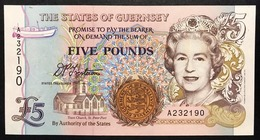 GUERNSEY 5 Pounds 1996 Fds UNC Pick 56a Lotto 2622 - Guernsey