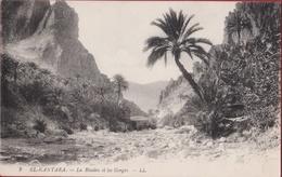 Algerie El-Kantara La Riviere Et Les Gorges  Algerije Algeria 1916 - Algérie
