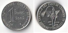 Piece 1 Franc 2002 Afrique De L'Ouest Origine Cote D'Ivoire - Elfenbeinküste