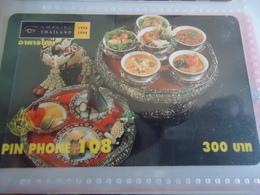 THAILAND USED CARDS PIN 108  FOOD   UNIT 300 - Thaïland