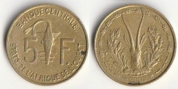 Piece 5 Francs 2009 Afrique De L'Ouest Origine Cote D'Ivoire - Elfenbeinküste