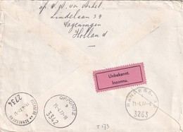 Envelop Naar Oostenrijk, Na Een Reis Via 3 Steden Alsnog Retour. Lees - 1949-1980 (Juliana)
