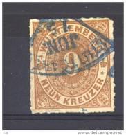 Allemagne  -  Wurtemberg  :  Mi  40  (o)  Obl. Bleue - Wurttemberg
