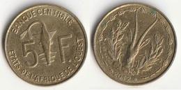 Piece 5 Francs 2012 Afrique De L'Ouest Origine Cote D'Ivoire - Elfenbeinküste