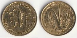 Piece 5 Francs 2013 Afrique De L'Ouest Origine Cote D'Ivoire - Elfenbeinküste