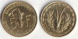 Piece 5 Francs 2016 Afrique De L'Ouest Origine Cote D'Ivoire - Elfenbeinküste