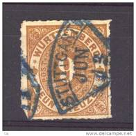 Allemagne  -  Wurtemberg  :  Mi  40  B  (o)      Obl. Bleue - Wurttemberg