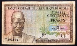 Guinea Guinee 50 Francs 1960 Bb Pick 12   Lotto 613 - Guinea
