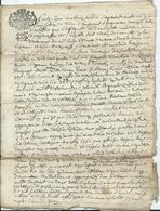 CACHET GENERALITE DE BRETAGNE -  Sur Acte De 4 Pages - 1690 - Cachets Généralité